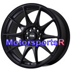 XXR 527 18 x 8 +42 Flat Black Rims Concave Wheels 5x1143 Mazda 3 6 Mazdaspeed