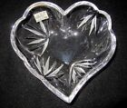 Mikasa Lead Crystal Clear First Love Heart Shaped Candy Dish Bowl