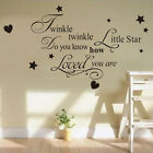 Vinyl Art Mural Wall Sticker Twinkle Little Star Decal for Baby Kid Girl Room