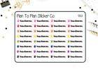 1353 Pet Medications Flea Tick Planner Stickers