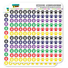 Paw Print Dots Planner Calendar Scrapbooking Crafting Stickers