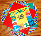 Vtg Origami Color Folding Paper In 3 Sizes Instructions Made in Japan 1950s
