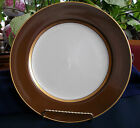 FITZ & FLOYD- RENAISSANCE BROWN (1980's) DINNER  PLATE(s)-ELEGANT! GILT! MINT!