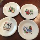 Fiestaware 1st series of the Twelve Days of Christmas 1-4 salad plates