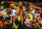 60pcs Halloween Spooky Spiders Skeletons Frog Rat Party Loot Favours Plastic