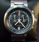 Guess Steel~200M Diver~Swiss Parts Quartz Chronograph~All Stainless~Mens Watch