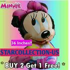 Giant Minnie Mouse Disney Happy Birthday baby shower Balloons Party Foil pink