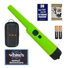 Whites Bullseye TRX Pinpointer Pin Pointer Green w/ Holster & FREE Iron-on Patch