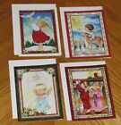 Tracy Flickinger Art Angel Children vtg Christmas Cards Assorted 4ct