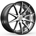 4 NEW Rosso Legacy 20X85 5x108 +38mm Black Machined Wheels Rims