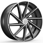 4 NEW Rosso Insignia 20X85 5x108 5x1143 +38mm Black Machined Wheels Rims