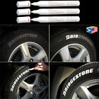 3 LOT TIRE LETTERING White PAINT PEN WHITEWALL SIDEWALL LETTER RUBBER OIL MARKER