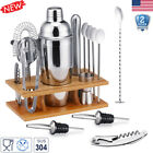 Cocktail Shaker Set Bar Accessories Kit Stainless Steel Bartender Martini Tools