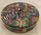 Stephanie Stouffer 1995 JUNGLE ANIMALS WILDLIFE Tin #3 Container Canister 6.5
