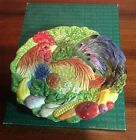 Fitz & Floyd Coq Du Village Rooster Vegetable Canape Plate