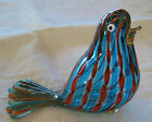 Italian Murano art glass bird paperweight figurine