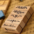 NEW Romantic Long Stamp Diy Wooden Rubber Stamps For Vintage Stationery Stamps