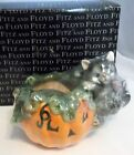 Fitz & Floyd Halloween Kitty Pumkin Votive Candleholder w/ Candle New NIB