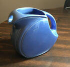 Rare Vintage Riviera Mauve Blue Disk Juice Pitcher by Homer Laughlin