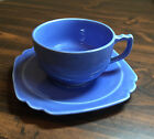 Vintage Riviera Mauve Blue Cup & Saucer Set by Homer Laughlin