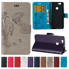 Card Slot Embossed Patterned Wallet Stand Flip PU Leather Cover Case For HTC
