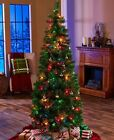 Artificial 6-Ft Pre-Lit Lighted Pop-Up Christmas Tree Multicolored Lights Home