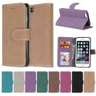 Fashion Magnetic Matte Stand Wallet Flip PU Leather Card Slot Phone Case Cover