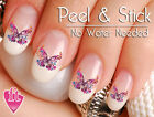 Beautiful Butterfly Swirl Nail Decal Sticker Set BFY101