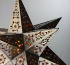 Moravian Star Punched Metal Tin Pendant Light Lamp Hanging Handmade in Mexico
