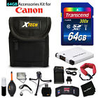 64GB ACCESSORIES Kit for Canon PowerShot ELPH 360 HS w 64GB Memory + Battery