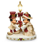disney parks christmas mickey and minnie Light Up victorian holiday figurine new