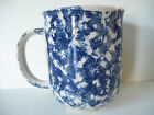 Tienshan Folk Craft Coffee Tea Mug Cup Blue Hearts Sponge design Stoneware