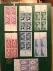OLD Large Lot of MINT NH US PLATE BLOCKS Vintage Stamps Collection
