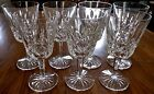 WATERFORD CUT CRYSTAL WATER GOBLETS Lismore Pattern Stemmed Glasses Set of 7