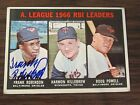 1967 Topps # 241 FRANK ROBINSON Autograph Signed Card Baltimore Orioles