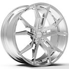 4 NEW ROSSO 702 ICON 20x85 5x108 +38mm Chrome Wheels Rims