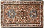 Antique Persian Heriz Karaja Oriental Rug, size 4'4 x 3'7, with FREE SHIPPING!!!