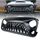Front Matte Black Mean Angry Bird Grille Grill for Jeep Wrangler TJ 97 06