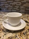 Fiesta ware Tea Cup and Saucer White