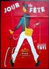 RR70s JOUR DE FETE Jacques Tati as a postman 47x63 French Movie Poster