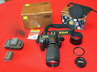 Nikon D80 Digital Camera w Nikkor 70 300mm f 4 56G Extra Battery Excellent