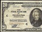 1929 $20 DOLLAR BILL 00722755 BROWN SEAL FED BANK NOTE CURRENCY MONEY Fr 1870-C