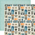 ECHO PARK JACK  JILL BOY COLLECTION CAMERAS 12X12 SCRAPBOOK PAPER
