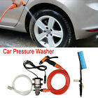 12V Electric High Pressure Washer Car Washing Power Pump Water Gun Cleaner Brush