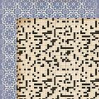 KAISERCRAFT MISS MATCH CROSSWORD PUZZLE DOUBLE SIDED 12 SCRAPBOOK PAPER
