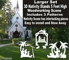 3D OUTDOOR NATIVITY SET WOODWORKING CHRISTMAS YARD ART 3 patterns patternsrus