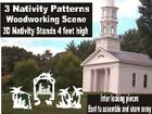 OUTDOOR 3D NATIVITY SET WOODWORKING PLAN YARD ART CHRISTMAS crafts 3 patterns