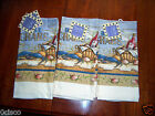 Kate McRostie Kate Dee 3 Kitchen Towels Blue Crab 2 Pantry 1 Terry NWT NEW TAGS