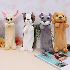 Kid Plush Fluffy Pet Dog Pencil Case Makeup Bag Zip Purse Gifts Pouch 4Styles