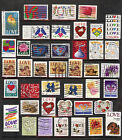 41 Used Love Postage stamp Collection